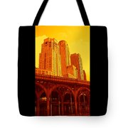 Upper West Side And Hudson River Manhattan Tote Bag