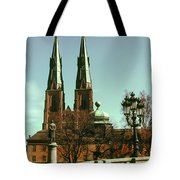 Uppsala Cathedral Steeples Tote Bag
