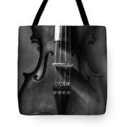 Upright Violin Bw Tote Bag