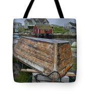 Upside Down Boat In Peggy's Cove Harbour Tote Bag