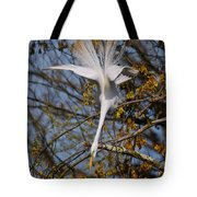 Upside Down Egret Tote Bag