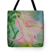 Upside Down Watercolor Tote Bag