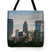 Uptown Charlotte North Carolina Cityscape Tote Bag