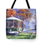 Streetcars Uptown New Orleans Tote Bag