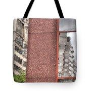 Urban Abstract Downtown Reflections Dayton Ohio Tote Bag