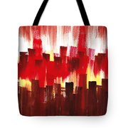 Urban Abstract Evening Lights Tote Bag