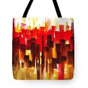 Urban Abstract Glowing City Tote Bag