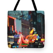 Urban Abstract Nashville Neon Tote Bag by Dan Sproul