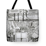 Urban Art In Fort Cochin Tote Bag