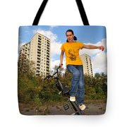 Urban Bmx Flatland With Monika Hinz Tote Bag