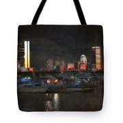Urban Boston Skyline Tote Bag