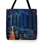 Urban Christmas Tree Tote Bag