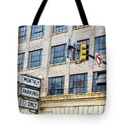 Urban Garage Monthly Parking Only Tote Bag