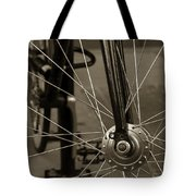 Urban Spokes In Sepia Tote Bag