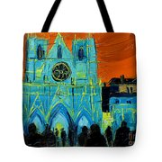 Urban Story - The Festival Of Lights In Lyon Tote Bag