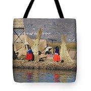 Uros Village Tote Bag