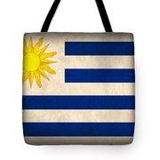 Uruguay Flag Vintage Distressed Finish Tote Bag
