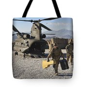 U.s. Army Sergeant Helps Unload Band Tote Bag
