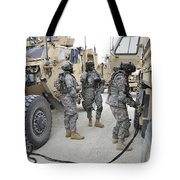 U.s. Army Soldiers Jump Start A Light Tote Bag