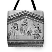 Us Capitol Building Facade- Black And White Tote Bag