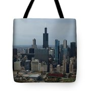 Us Cellular And Wrigley Field Chicago Baseball Parks 3 Panel Composite 02 Tote Bag