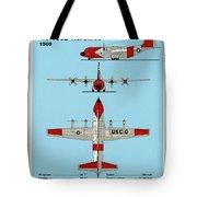 Coast Guard Hc-130 B Hercules Tote Bag