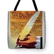 Us Constitution Stamp Tote Bag