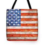 Us Flag With States Tote Bag