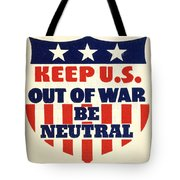 U.s. Isolationism, 1940s Tote Bag