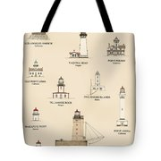 Lighthouses Of The West Coast Tote Bag