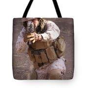 Us Marine At Work Tote Bag