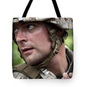 U.s. Marine Calls For Helicopter Tote Bag