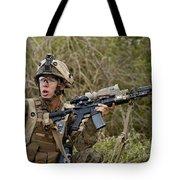 U.s. Marine Corps Machine Gunner Tote Bag