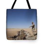 U.s. Marine Corps Officer Directs Tote Bag