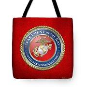 U. S. Marine Corps - U S M C Seal  Tote Bag