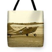 U.s. Military Recon Single Engine Plane Tote Bag