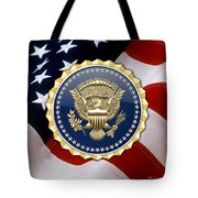 Presidential Service Badge - P S B Over American Flag Tote Bag