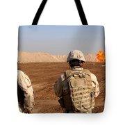 U.s. Soldiers Detonate A Test Explosion Tote Bag