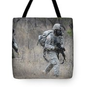 U.s. Soldiers Don Chemical Warfare Gear Tote Bag