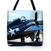 Us Ww II Fighter Plane Tote Bag