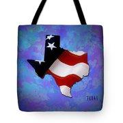 Usa Flagtexas State Digital Artwork Tote Bag