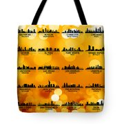 Usa Skylines 3 Tote Bag