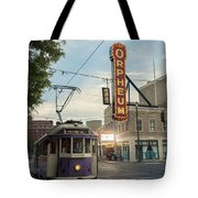 Usa, Tennessee, Vintage Streetcar Tote Bag
