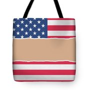 Usa Wrapping Paper Torn Through The Centre Tote Bag