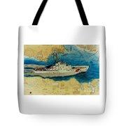 Uscg Cuttyhunk Nautical Chart Art Peek Tote Bag