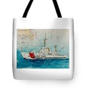 Uscgc Bibb Nautical Chart Cathy Peek Tote Bag