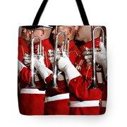 Usmc Band Tote Bag