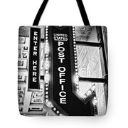 Usps Enter Here Tote Bag