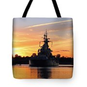 Uss Battleship Tote Bag