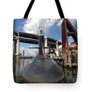 Uss Blue Back Submarine Tote Bag